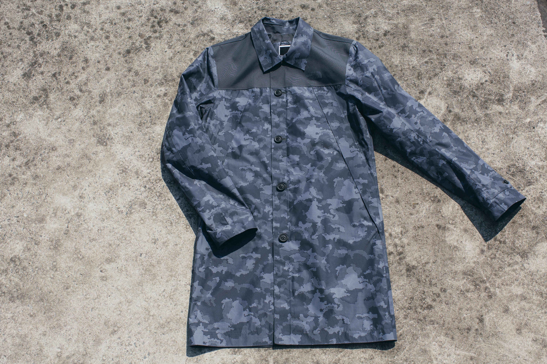 Long Coat - Asphalt Grey Camo