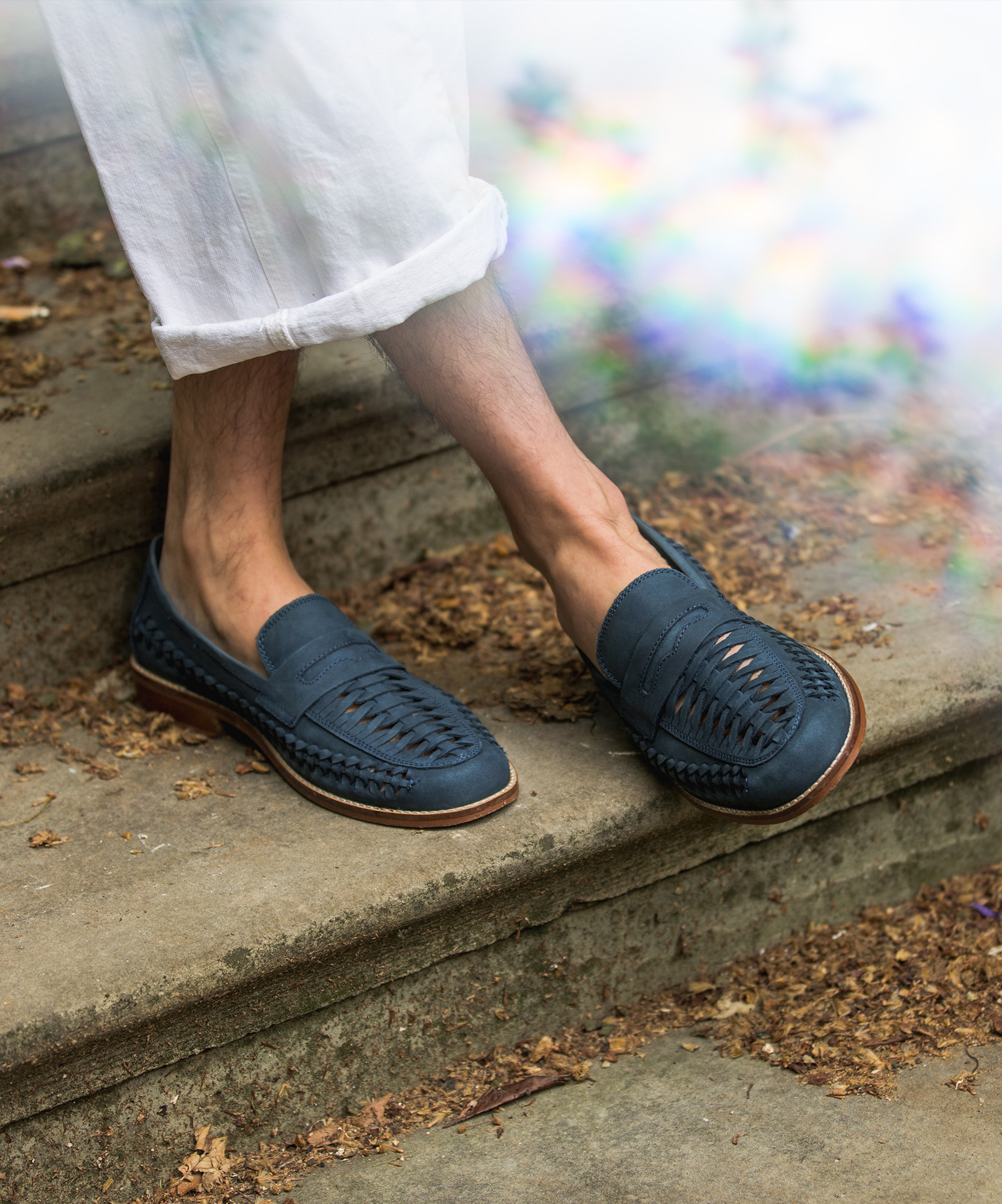 dune suede navy woven loafers 2
