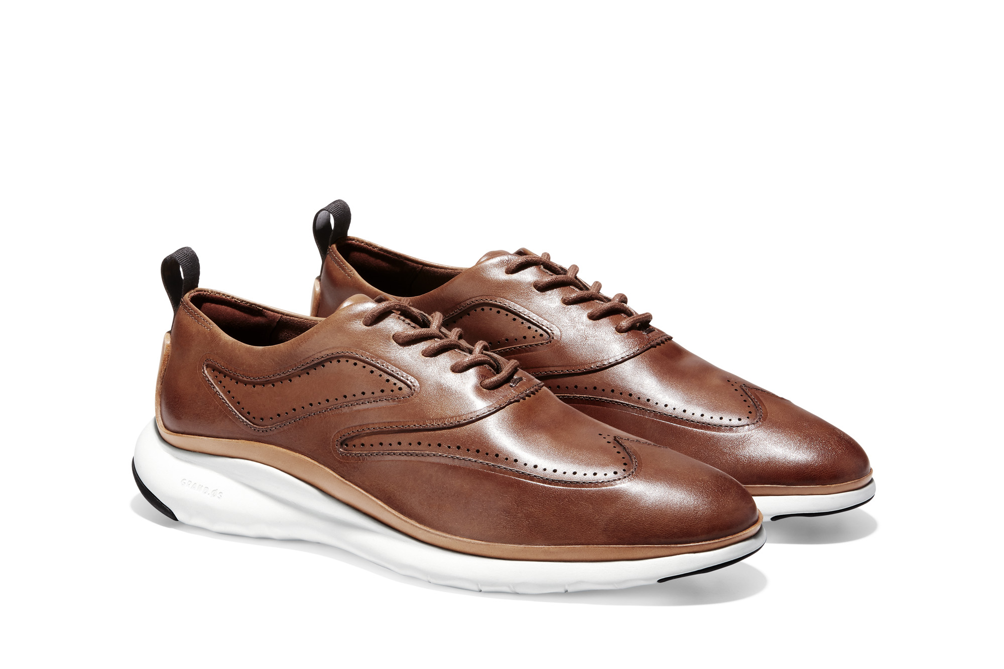 3ZEROGRAND WINGTIP OXFORD CH BRITISH TAN LEATHER-NATURAL LEATHER CHASSIS-IVORY_C28396 3_V1