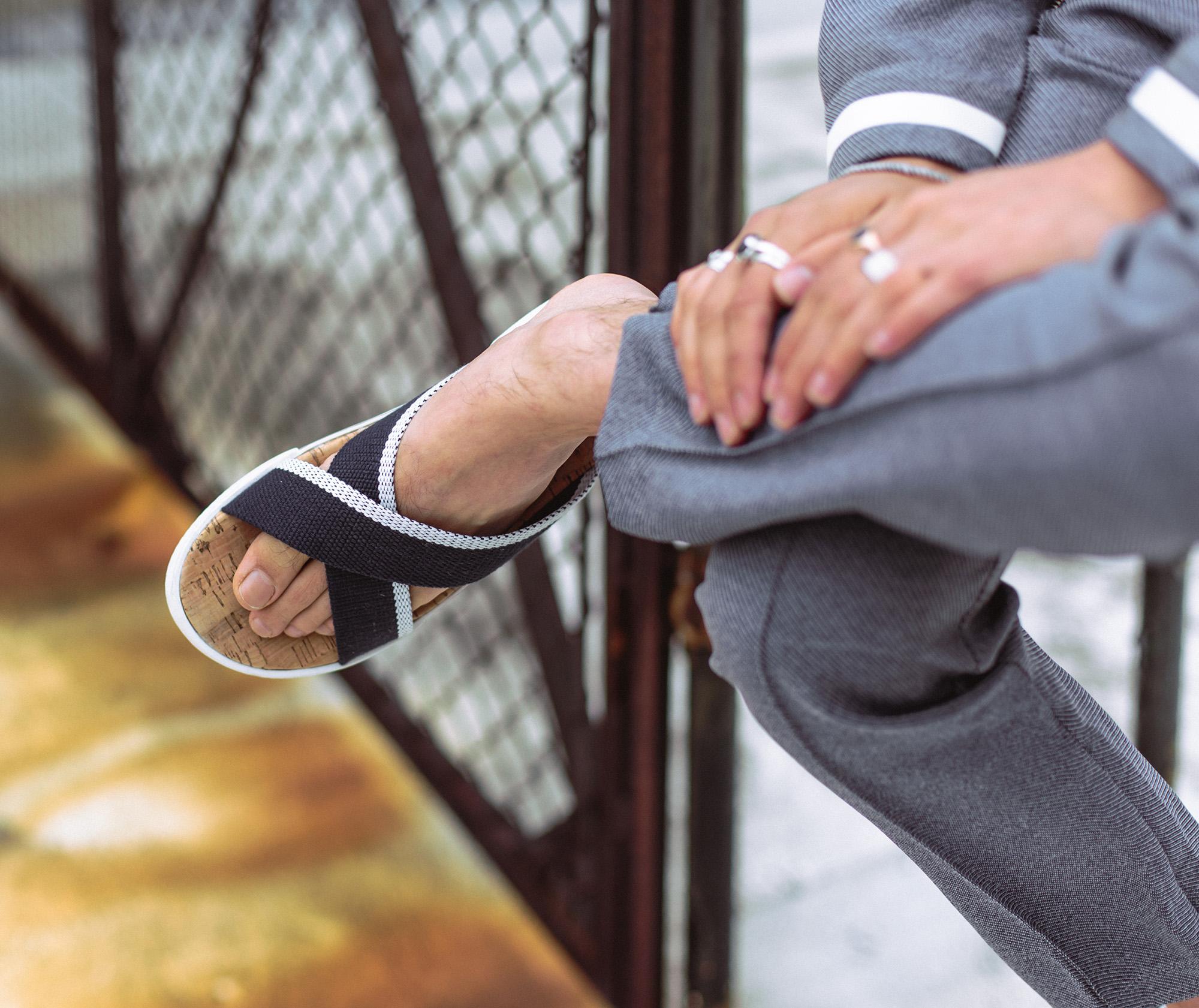 dune navy sandals streetwear