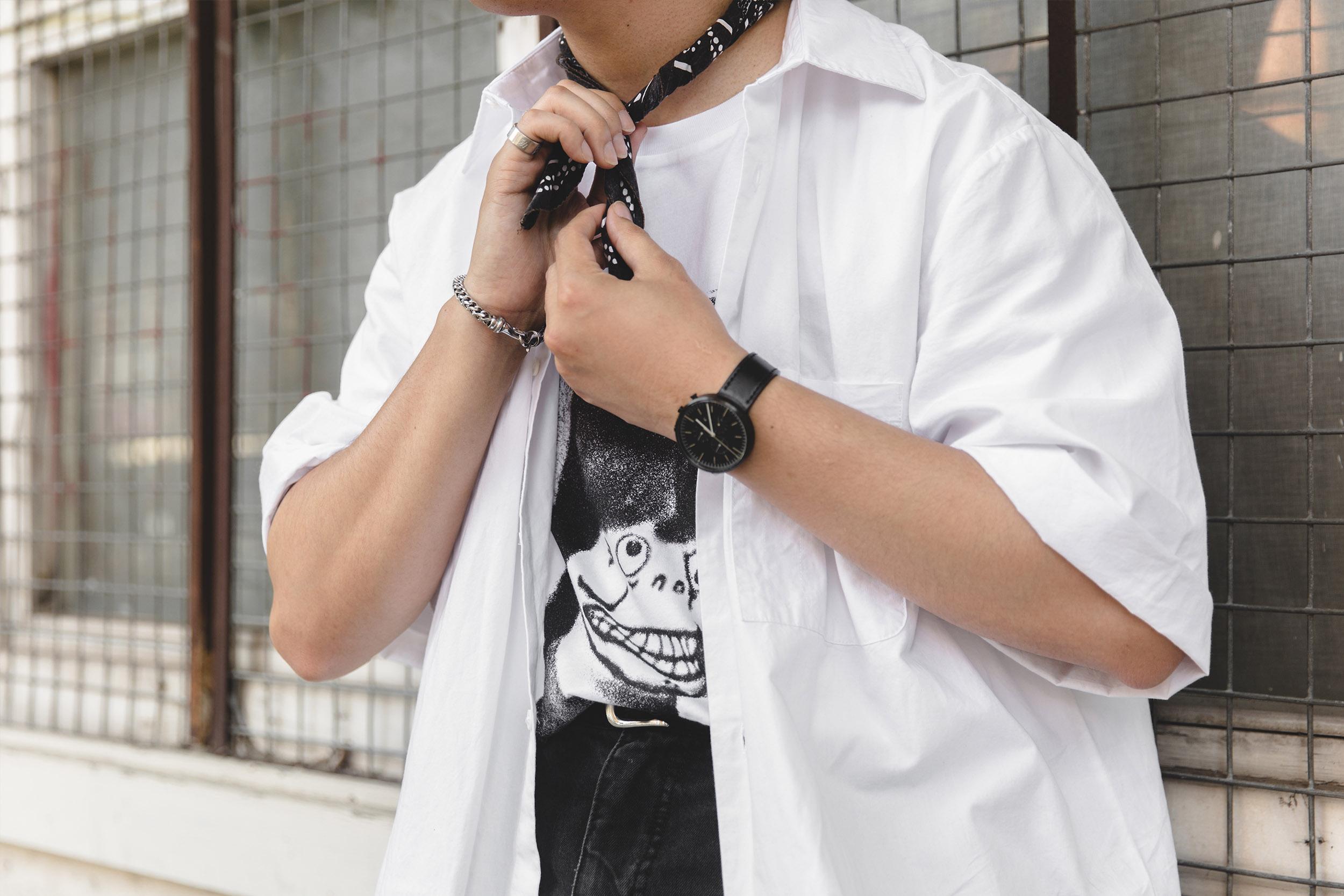 cheap monday white shirt outlanders details